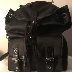 Unlisted black leather backpack
